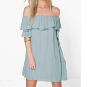 Sophie Ruffle Off Shoulder Woven Dress